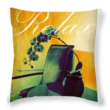 Throw Pillow featuring the photograph Relax by Patricia Strand