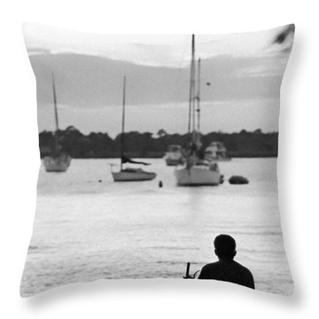Relax Throw Pillow by Patrick M Lynch