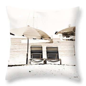 Relaxation By The Beach Throw Pillow