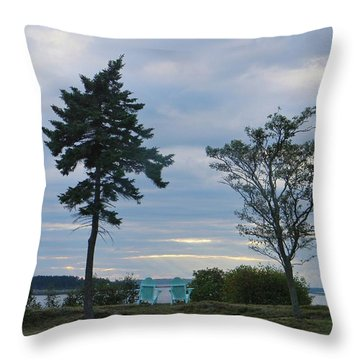 Relaxation By The Sea Throw Pillow by Jean Goodwin Brooks