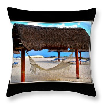 Relaxation Defined Throw Pillow by Patti Whitten