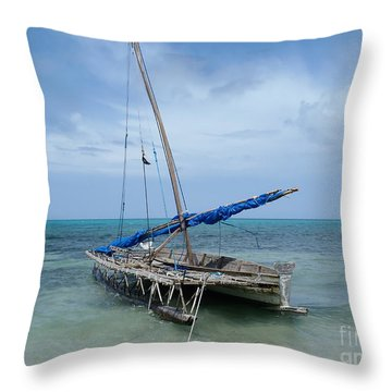 Relaxing After Sail Trip Throw Pillow