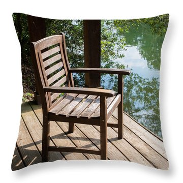 Alone By The Lake Throw Pillow