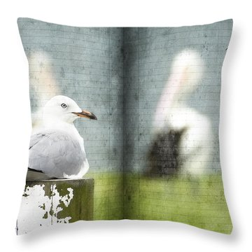 Throw Pillow featuring the photograph Relaxing By The River 01 by Kevin Chippindall