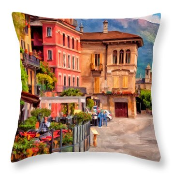 Relaxing In Baveno Throw Pillow
