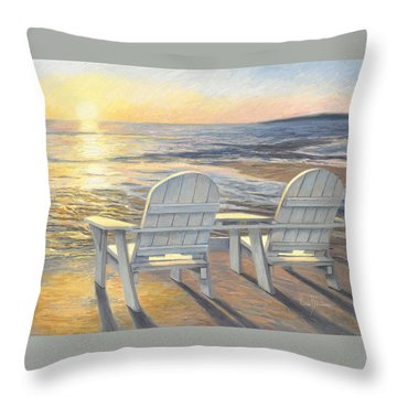 Relaxing Sunset Throw Pillow