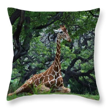 Relaxing Under A Tree Throw Pillow