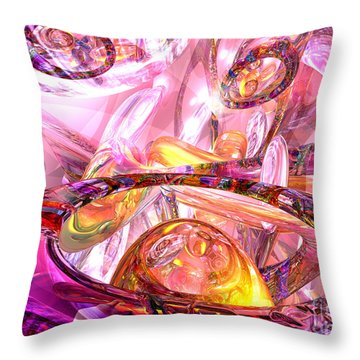 Released Happiness Throw Pillow by Alexander Butler