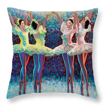 Releve' Throw Pillow