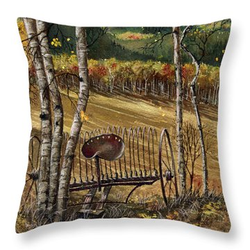 Relic In The Aspen Throw Pillow