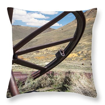 Throw Pillow featuring the photograph Relics Of Bodie by Steven Bateson