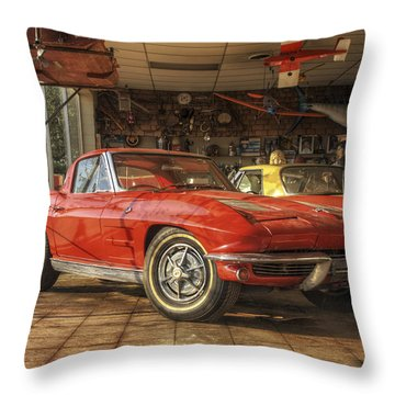 Relics Of History - Corvette - Elvis - Nehi Throw Pillow