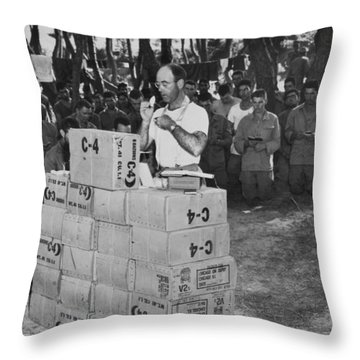 Religion In War Throw Pillow