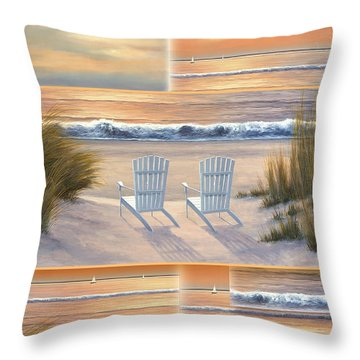 Relocated - Paradise Sunset Throw Pillow