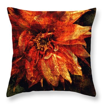 Remaining Open Throw Pillow by Jessica Brawley