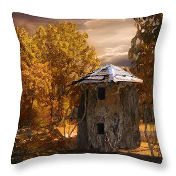 Remains Throw Pillow by Jack Zulli