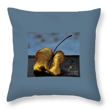 Throw Pillow featuring the photograph What's Left Over... by Marija Djedovic