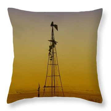 Remains Of An Old Windmill  Throw Pillow by Jeff Swan
