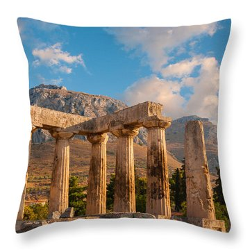 Remains Of Apollo Temple Throw Pillow