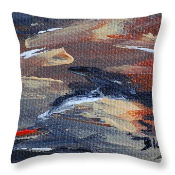 Remains Of The Day Throw Pillow by Donna Blackhall