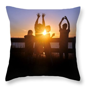 Remains Of The Day Throw Pillow by Rebecca Parker