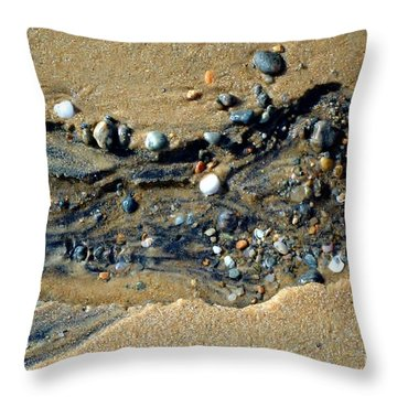 Throw Pillow featuring the photograph Remants by Christiane Hellner-OBrien