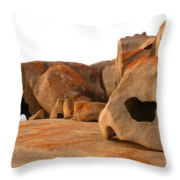 Throw Pillow featuring the photograph Remarkable Rocks by Evelyn Tambour