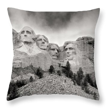 Remarkable Rushmore Throw Pillow