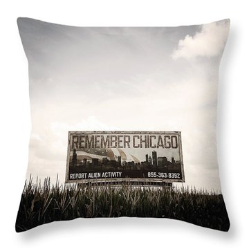 Remember Chicago  Throw Pillow by Trish Mistric