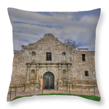Remember The Alamo Throw Pillow by Barry Jones