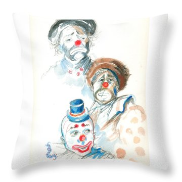 Remember The Clowns Throw Pillow