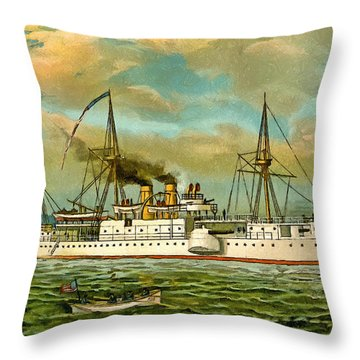 Remember The Maine Throw Pillow