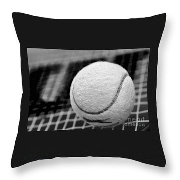 Remember The White Tennis Ball Throw Pillow by Kaye Menner
