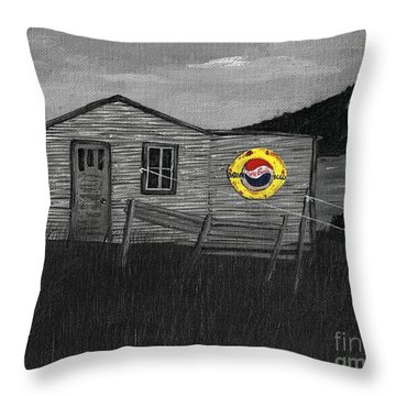 Remember When Old Pepsi Sign 2 Throw Pillow by Barbara Griffin