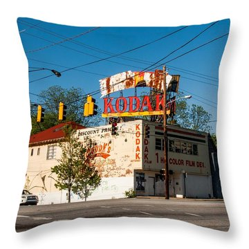 Throw Pillow featuring the photograph Remember When? by Robert L Jackson