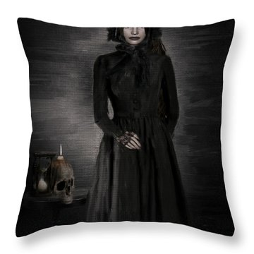 Remember Your Mortality Throw Pillow by Lourry Legarde