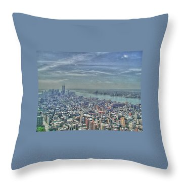 New York Remembering 9/11 Throw Pillow
