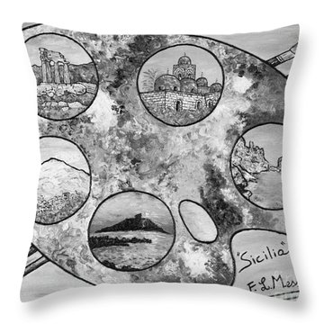 Throw Pillow featuring the painting Remembering Sicily by Loredana Messina
