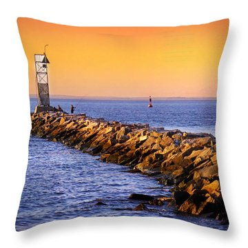 Remembering Summer Throw Pillow by Mikki Cucuzzo