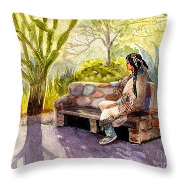 Remembering The Old Ones Throw Pillow by Marilyn Smith