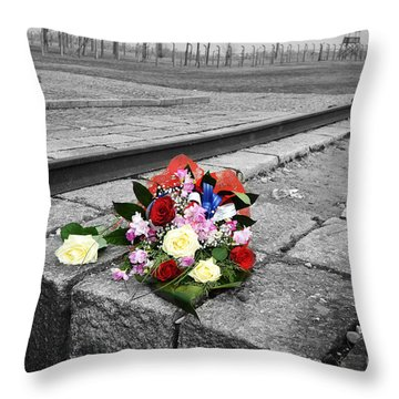 Remembering The Painful Past Throw Pillow by Randi Grace Nilsberg