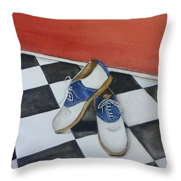 Remembering The Saddle Shoes Throw Pillow by Kelly Mills
