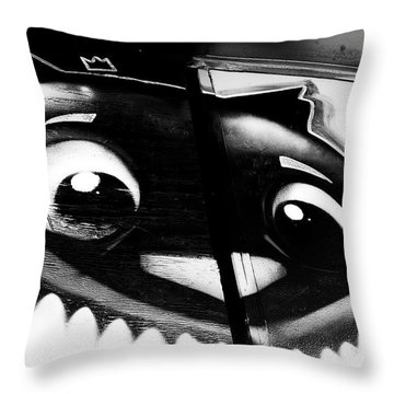 Throw Pillow featuring the photograph Remembering Wonderland - Urban Cheshire Cat by Steven Milner