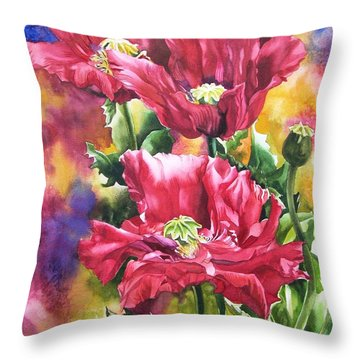Poppies For Remembrance Day  Throw Pillow by Alfred Ng