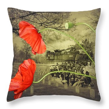 Remembrance Throw Pillow by Linda Lees