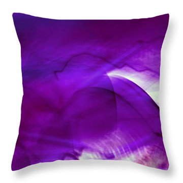 Remembrance - Purple Throw Pillow