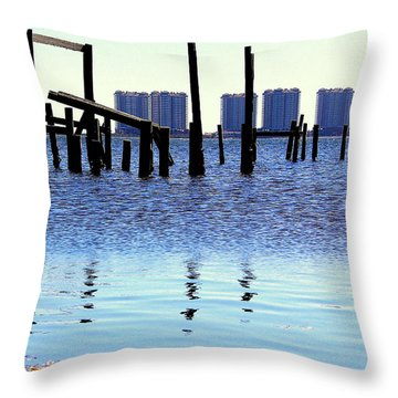Throw Pillow featuring the photograph Reminders by Faith Williams