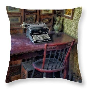 Remington Noiseless No 6 Typewriter Throw Pillow by Susan Candelario