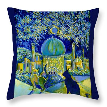 Reminiscences Of Asia. Bed Time Story Throw Pillow