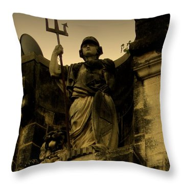 Throw Pillow featuring the photograph Trident To The Sky by Salman Ravish